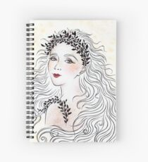 Silver and Ivory Spiral Notebook