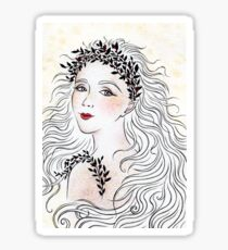 Silver and Ivory Sticker