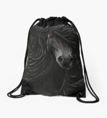 Night Horse Drawstring Bag