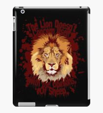 The lion doesn't concern itself with the opinions of sheep iPad Case/Skin