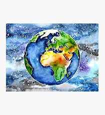 Watercolour Earth Photographic Print