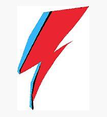 David Bowie / Ziggy Stardust Makeup Photographic Print
