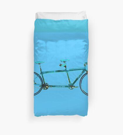 Tandem Bicycle Duvet Cover