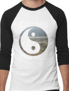 Ying yang overlay Men's Baseball ¾ T-Shirt