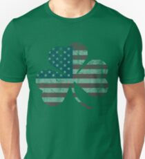 Irish American Flag Shamrock T-Shirt
