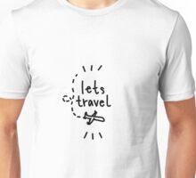lets travel plane drawing Unisex T-Shirt