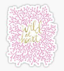 Wild at Heart – Pink & Gold Sticker