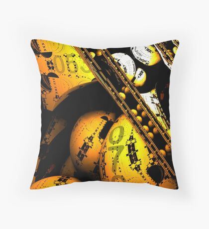 machine 076 Throw Pillow