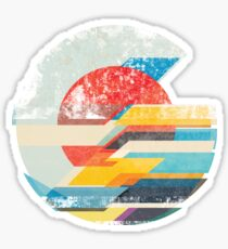 Digital Sun Horizon  Sticker