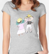 Your hat is crooked!! let me fix that. :D - ABC '14 Women's Fitted Scoop T-Shirt