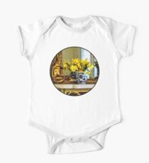 Daffodils on Mantelpiece One Piece - Short Sleeve