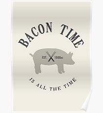 Bacon Time [Black] Poster
