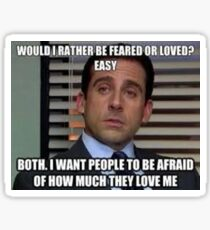 Michael Scott The Office Sticker