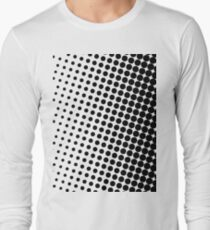 Halftone Black Long Sleeve T-Shirt