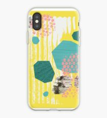 Texture / Rocks in Yellow iPhone Case