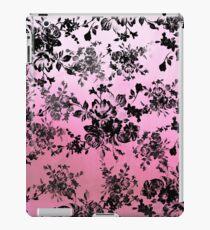 Vinilo o funda para iPad Chic vintage black floral pink watercolor pattern