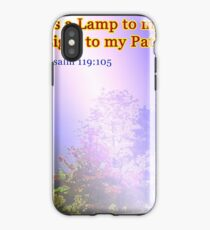 Your word is a lamp to my feet iPhone Case