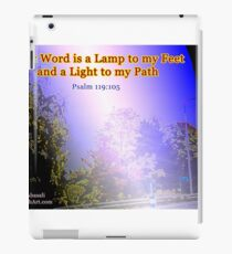 Your word is a lamp to my feet iPad Case/Skin