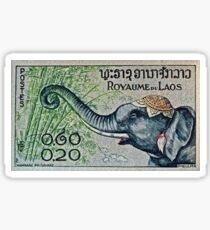 """1958 Laos Elephant Stamp"" macro photo Sticker"