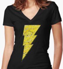 Schwarzer Adam - DC-Sprühfarbe Shirt mit V-Ausschnitt