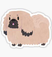 Pikingese Derpy Dog Sticker