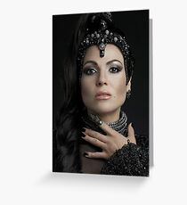 Evil Queen - Once Upon A Time Greeting Card