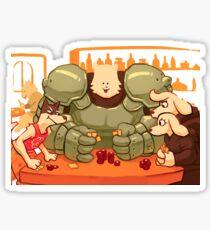 Undertale - Dog Poker Sticker