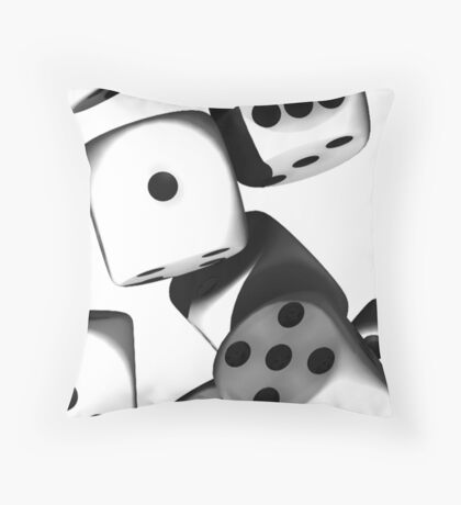 dicefloat Throw Pillow