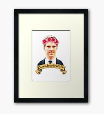Cumberbitch shirt Framed Print