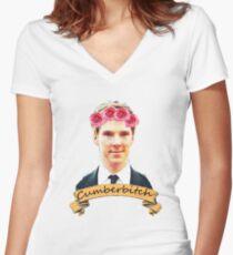 Cumberbitch shirt Women's Fitted V-Neck T-Shirt