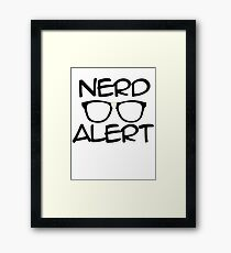 Nerd Alert Framed Print