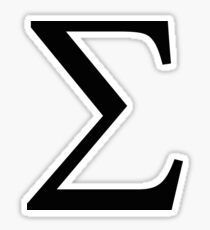 Sigma Greek Letter Sticker