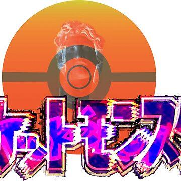 Vaporwave Pokemon by DaftDesigns