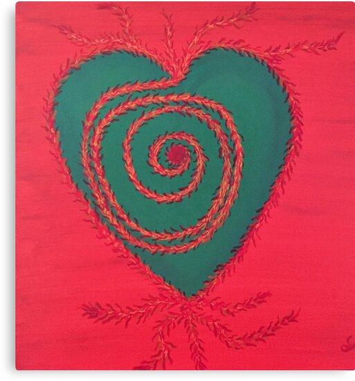 Rooted Heart Chakra by lindaglarsen