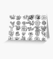 Succulent Chart Greeting Card