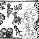 Skulls and trippy things by Brian Scolnick