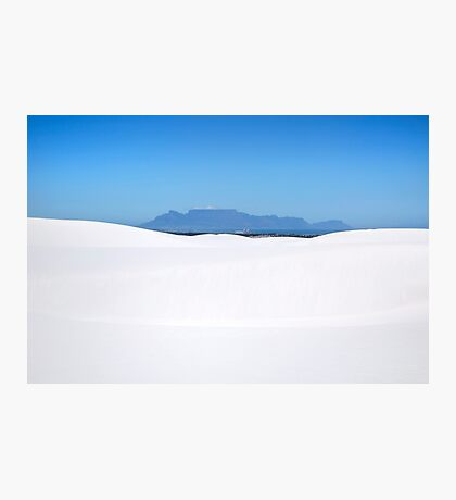 Blue Sky & White Sands of Atlantis, Cape Town   Photographic Print