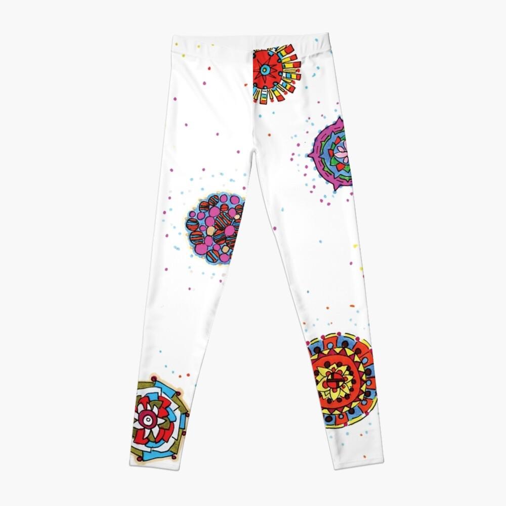 Snap Dragon pattern design Leggings