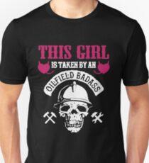 93daa806 THIS GIRL IS TAKEN BY OILFIELD BADASS Slim Fit T-Shirt