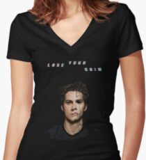 lose your mind -stiles- Women's Fitted V-Neck T-Shirt