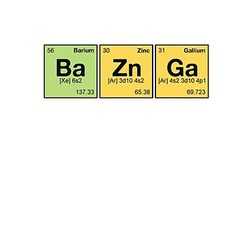 Ba Zn Ga! - periodic elements scramble by watersoluble