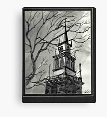 Church Pen and Ink  Canvas Print