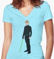 Luke Skywalker 1 Women's Fitted V-Neck T-Shirt