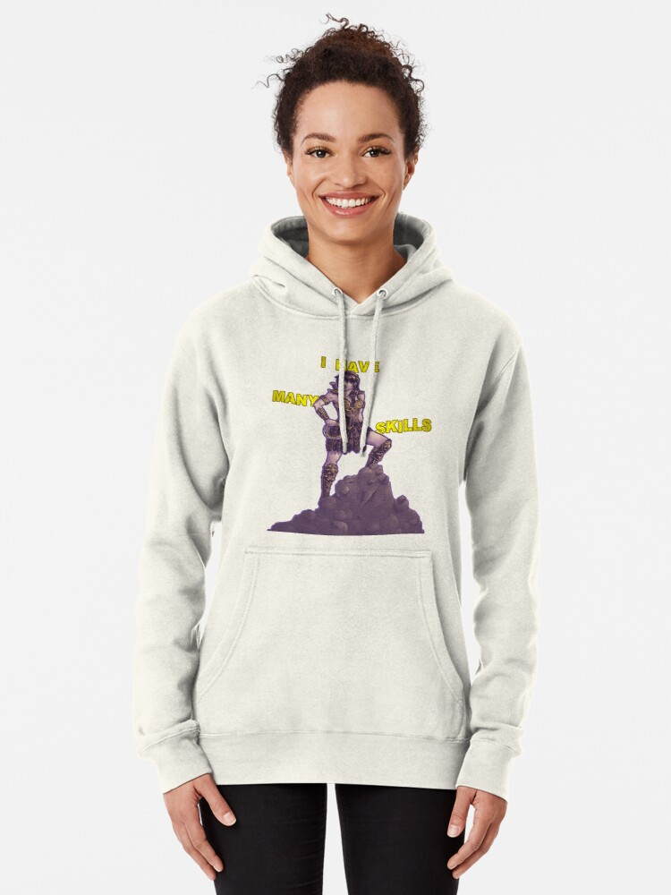 Alternate view of She Has Many Skills Pullover Hoodie