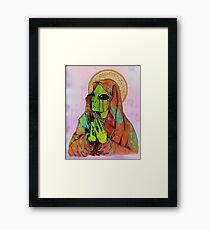 Praying Alien Framed Print