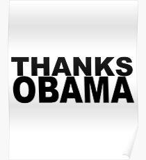 Thanks Obama Poster