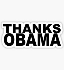 Thanks Obama Sticker