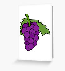 Simple Grapes Greeting Card