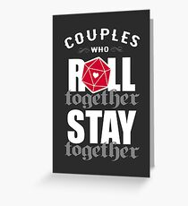Couples who roll together, stay together D20 Greeting Card