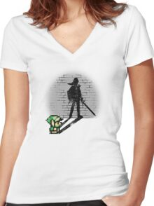 Becoming a Legend - Link Women's Fitted V-Neck T-Shirt